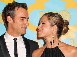 Justin Theroux, Jennifer Aniston - 72nd Annual Golden Globe Awards