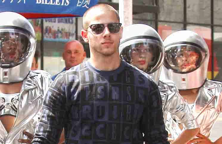 Nick Jonas Sighted Shooting a Music Video in Los Angeles on August 13, 2015