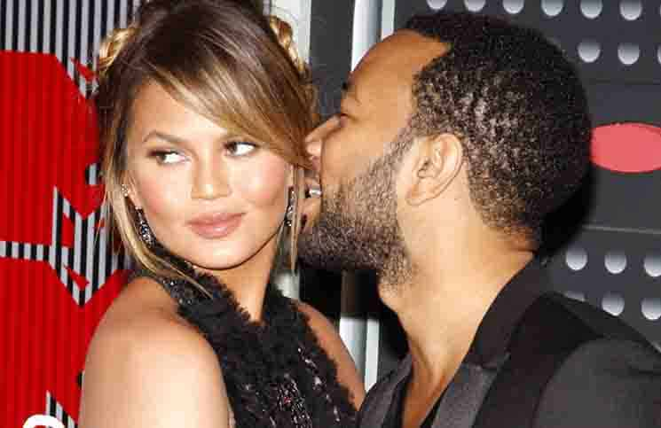 Chrissy Teigen and John Legend - 2015 MTV Video Music Awards