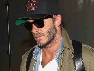 David Beckham Sighted Arriving at LAX Airport on August 28, 2015