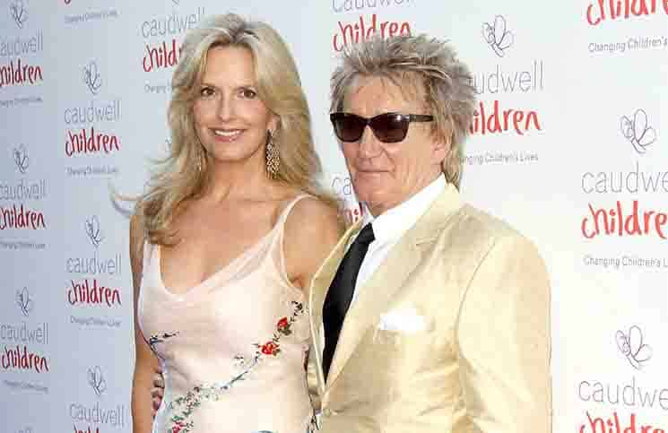 Penny Lancaster and Rod Stewart - Caudwell Children Butterfly Ball 2015