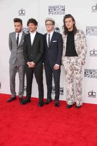 Liam Payne, Louis Tomlinson, Niall Horan, and Harry Styles of One Direction - 2015 American Music Awards