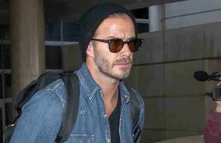 David Beckham and His Father Ted Beckham Arrive at LAX on April 27, 2015