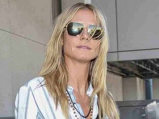 Heidi Klum Sighted Arriving at LAX Airport on October 1, 2015