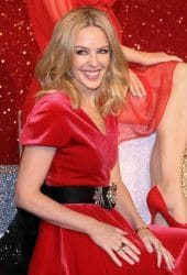 Kylie Minogue's Waxwork Unveiling at Madame Tussauds in London on December 8, 2015