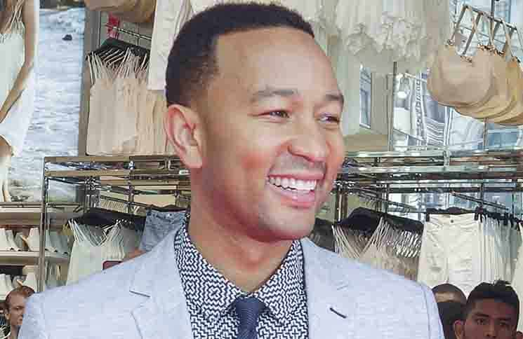 John Legend - Grand Opening of H&M Herard Square with Ribbon Cutting by John Legend