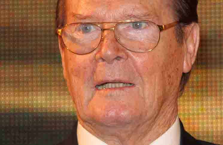 "Roger Moore ""Bond On Bond: Reflections on 50 years of James Bond Movies"" Book Signing at HMV in London on October 22, 2012"
