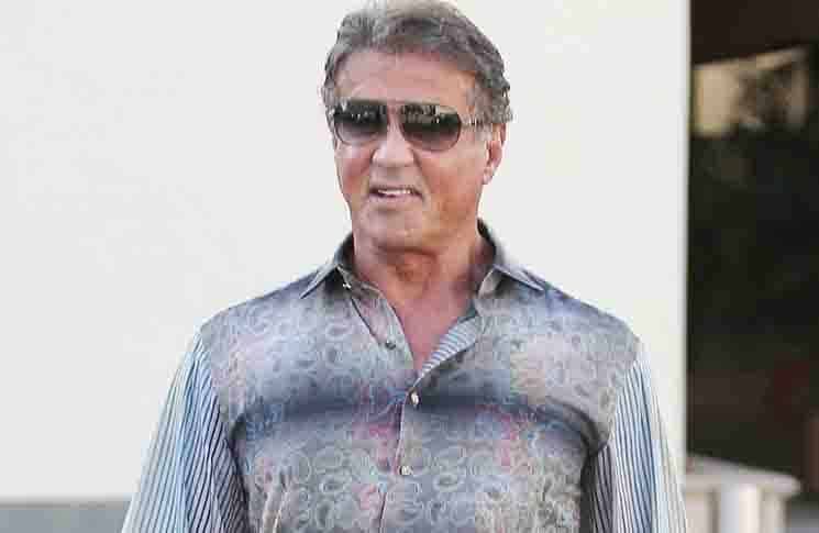 Sylvester Stallone Sighted in Los Angeles on December 7, 2015