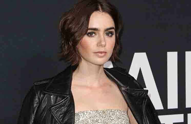 Lily Collins - Saint Laurent at the Palladium