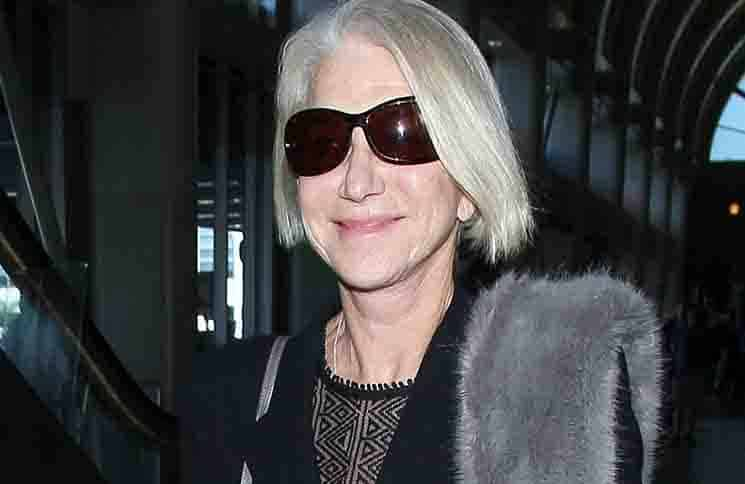 Helen Mirren Sighted at LAX Airport on January 28, 2016