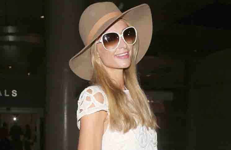 Paris Hilton Sighted Arriving at LAX Airport on January 6, 2016