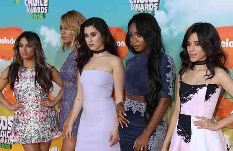 Ally Brooke, Dinah Jane, Lauren Jauregui, Normani Kordei and Camila Cabello of Fifth Harmony - Nickelodeon's 2016 Kids' Choice Awards