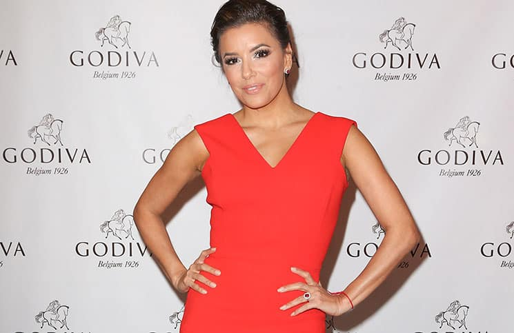 Eva Longoria Celebrates Valentine's Day 2016 with Godiva Chocolatier
