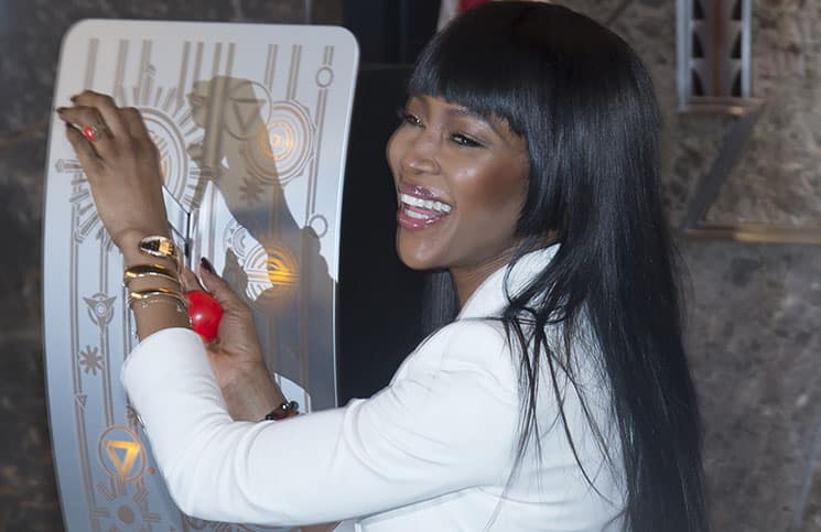 Naomi Campbell - Empire State Building Hosts Naomi Campbell in Honor of Red Nose Day