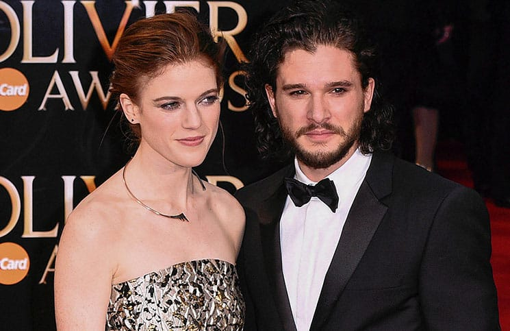 Rose Leslie and Kit Harington - 40th Annual Laurence Olivier Awards