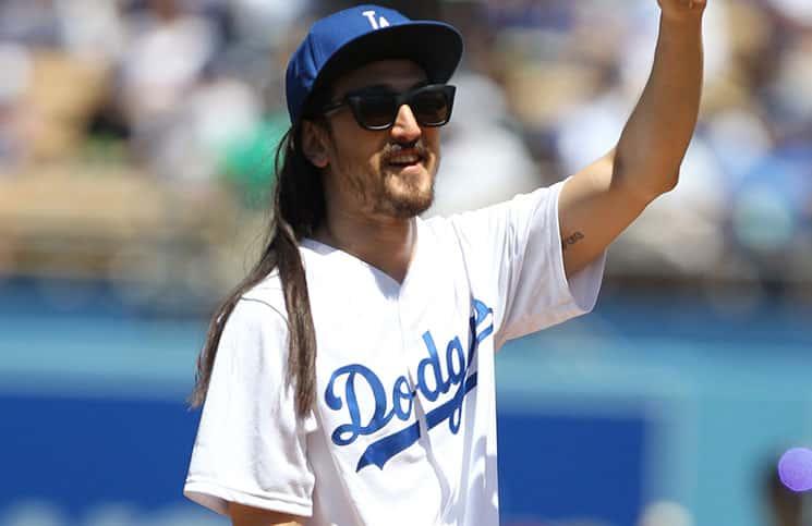 Steve Aoki - 2015 MLB - Los Angeles Dodgers Pre-Game