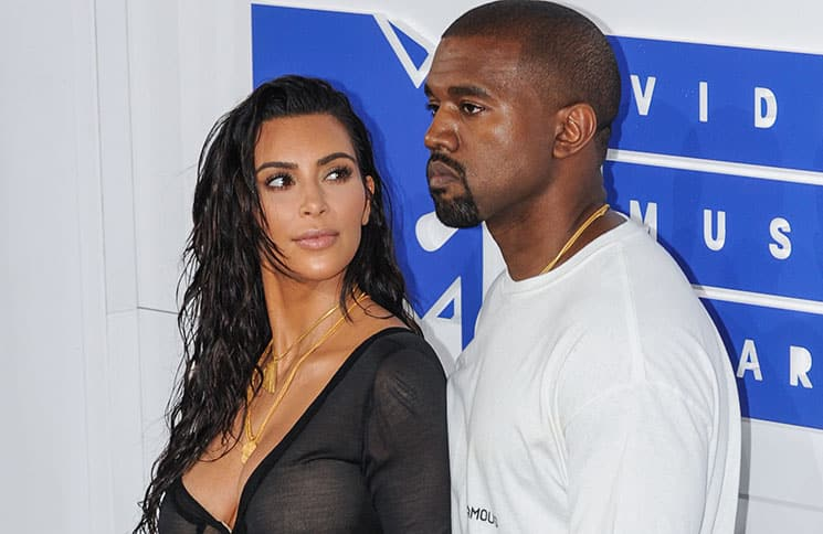 Kim Kardashian West, Kanye West - 2016 MTV Video Music Awards