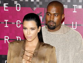 Kim Kardashian and Kanye West - 2015 MTV Video Music Awards - 2