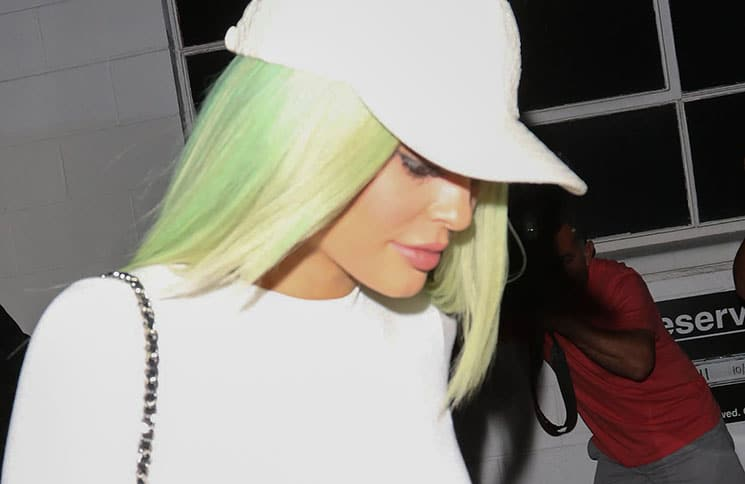 Kylie Jenner Sighted Departing Tyga's Los Angeles Recording Studio on October 27, 2015