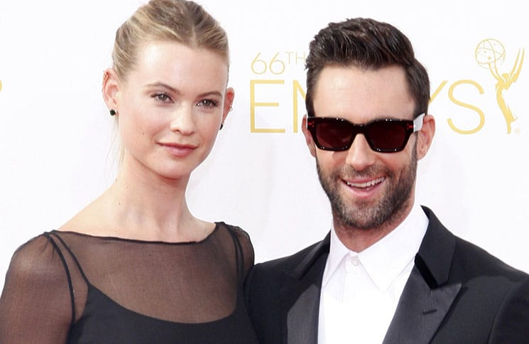 Behati Prinsloo and Adam Levine - 66th Annual Primetime Emmy Awards