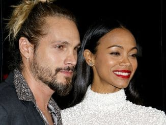 "Marco Perego and Zoe Saldana - ""Live By Night"" Los Angeles Premiere"