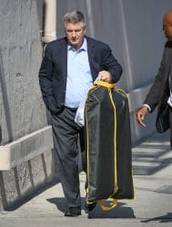 """Alec Baldwin and Family Sighted Arriving at """"Jimmy Kimmel Live!"""" on May 11, 2016"""