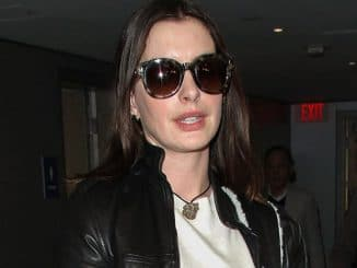 Anne Hathaway Sighted at LAX Airport in Los Angeles on February 22, 2017