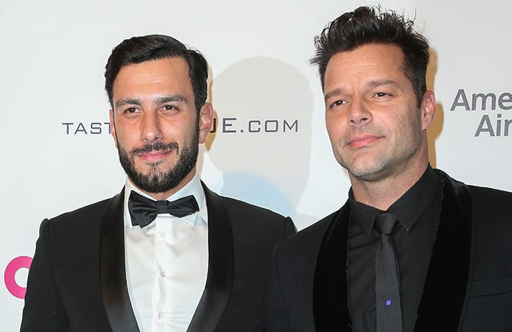Ricky Martin, Jwan Yosef - 25th Annual Elton John AIDS Foundation's Academy Awards Viewing Party