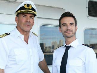 Kapitän Burger (Sascha Hehn) und Florian (Florian Silbereisen) - Das Traumschiff
