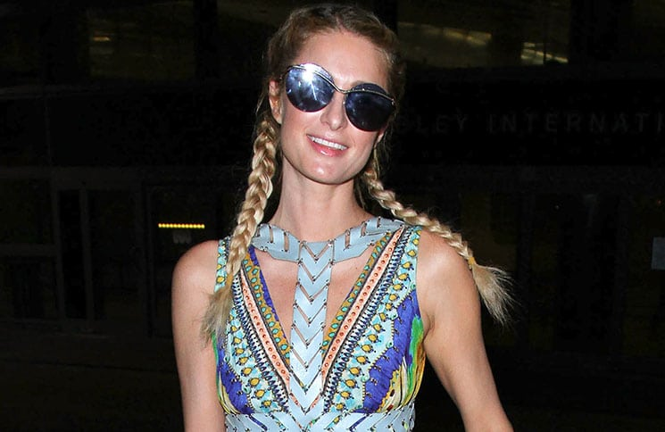 Paris Hilton Sighted at LAX Airport on December 21, 2016