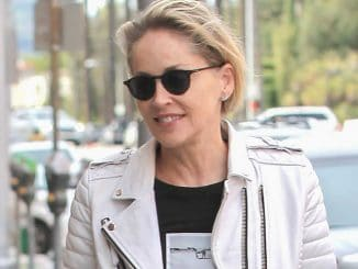 Sharon Stone Sighted in Los Angeles on February 13, 2017