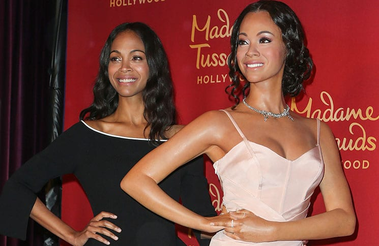 Zoe Saldana Unveils Wax Figure at Madame Tussauds Hollywood