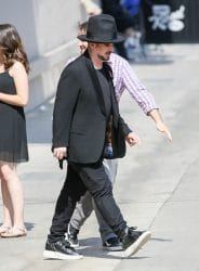 """Boy George, Jon Moss and Mikey Craig of Culture Club Sighted Arriving at """"Jimmy Kimmel Live!"""" on June 28, 2016"""