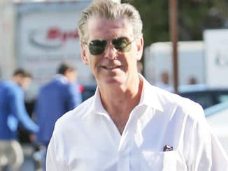 Pierce Brosnan Sighted in Los Angeles on October 29, 2015