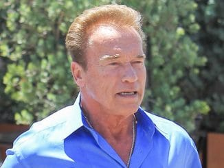 Arnold Schwarzenegger Sighted at Caffe Roma in Beverly Hills on June 15, 2017