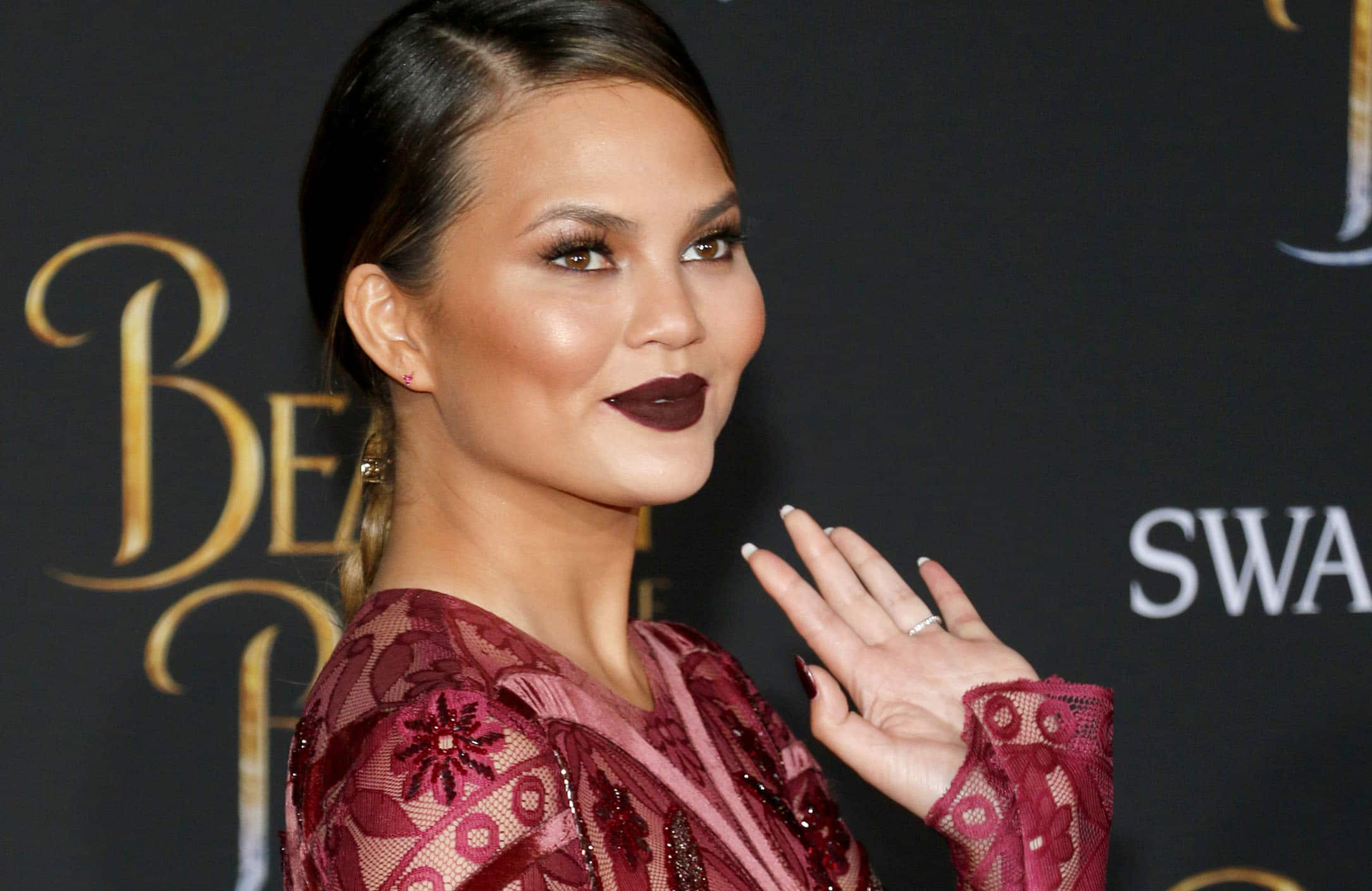 "Chrissy Teigen - ""Beauty And The Beast"" Los Angeles Premiere"