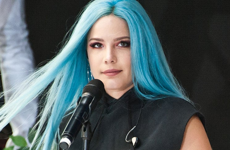 """Halsey - Halsey in Concert on NBC's """"Today"""" Show at Rockefeller Plaza in New York City"""