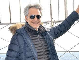 """Andrea Bocelli's """"Cinema"""" Album Promotion at the Empire State Building on October 29, 2015"""
