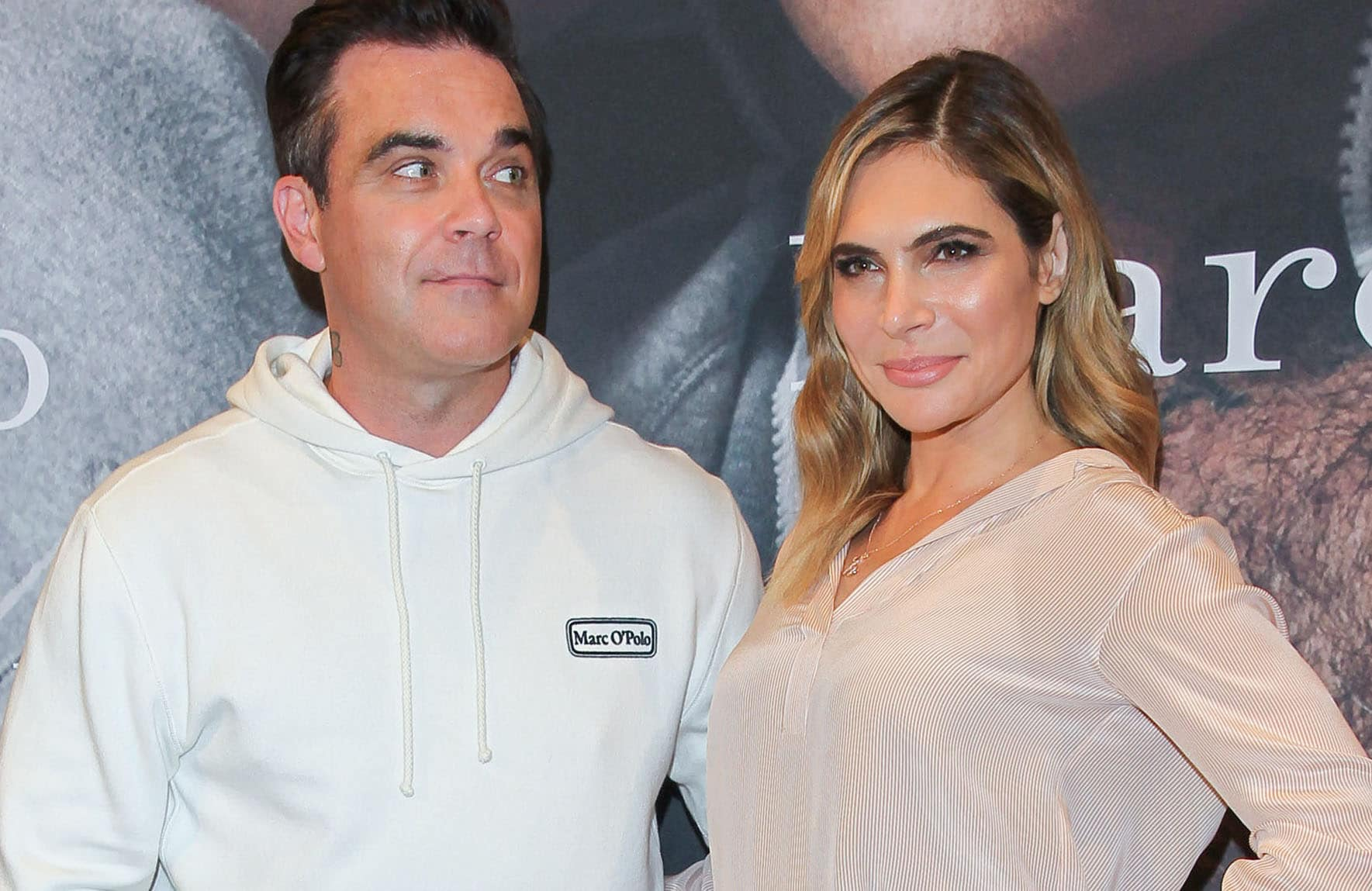 Robbie Williams, Ayda Field - Marc O'Polo Launches 50th Anniversary Special Edition Sweatshirt with Robbie Williams