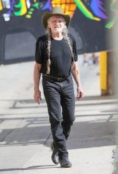 """Willie Nelson Sighted at """"Jimmy Kimmel Live!"""" on October 17, 2016"""