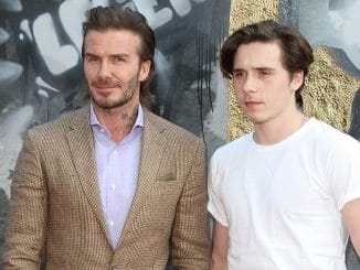 "David Beckham and Brooklyn Beckham - ""King Arthur: Legend of the Sword"" European Premiere"