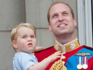 Prinz George - Prinz William - Trooping of the Colour 2015