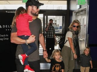 Chris Hemsworth, Elsa Pataky and Family Sighted at LAX Airport in Los Angeles