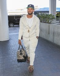 Usher Sighted at LAX Airport in Los Angeles on June 27, 2017