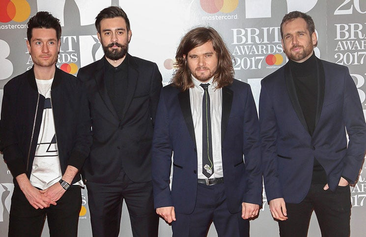 Bastille - BRIT Awards 2017 - Arrivals - The O2, Peninsula Square