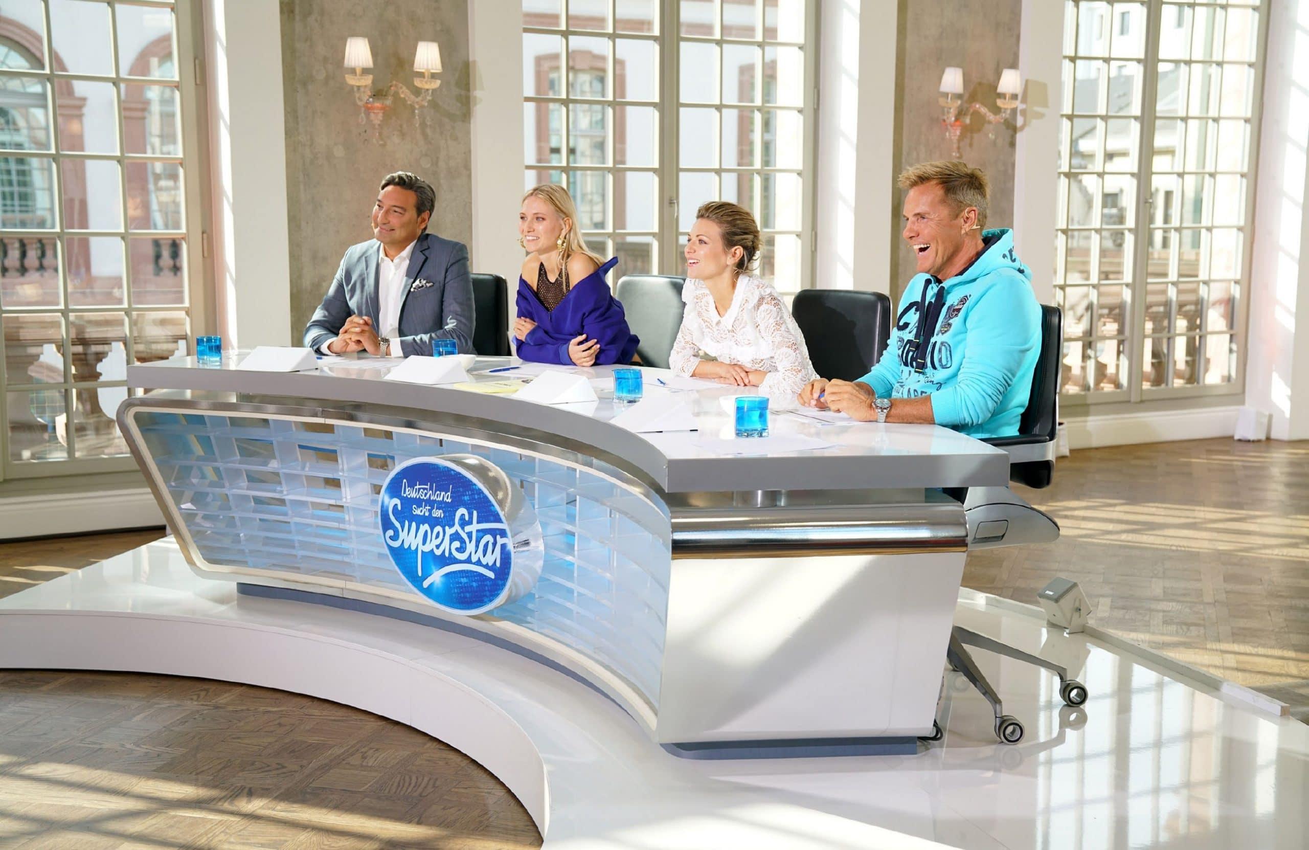 Die Jury (v.l.): Mousse T., Carolin Niemczyk, Ella Endlich, Dieter Bohlen - Deutschland sucht den Superstar