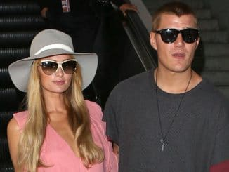 Paris Hilton and Chris Zylka Sighted at LAX Airport in Los Angeles on August 25, 2017