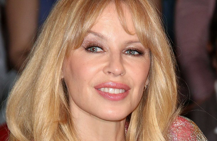 """Kylie Minogue Visits the """"Markus Lanz"""" TV Show in Hamburg on April 10, 2018"""