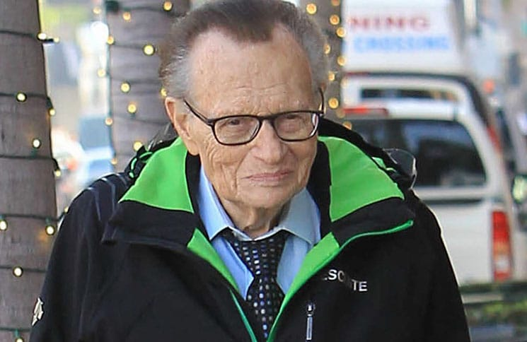 Larry King Sighted Shopping in Beverly Hills on January 18, 2018