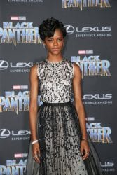 """Letitia Wright - Disney and Marvel's """"Black Panther"""" World Premiere"""